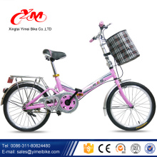 Bicicleta plegable de 20 pulgadas con una sola velocidad
