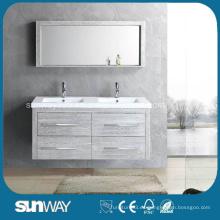 Muebles de baño de la melamina de la venta caliente con el espejo