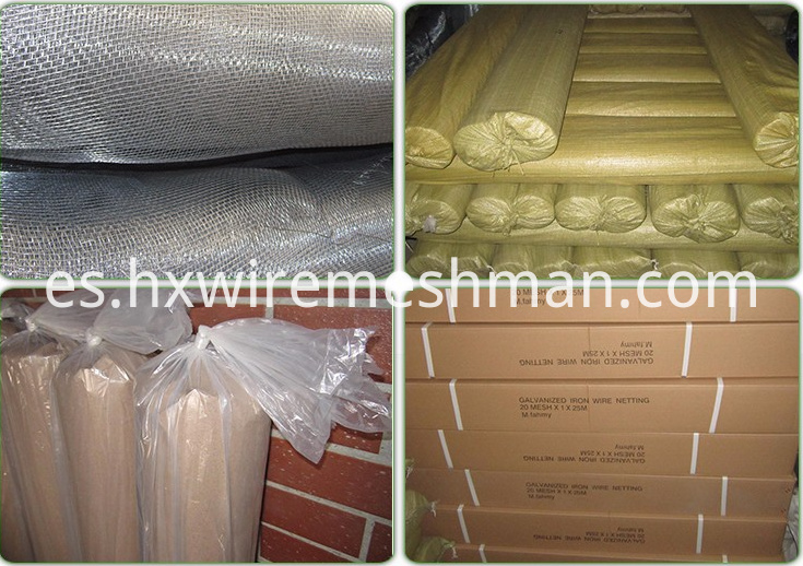 packing of ss window screen