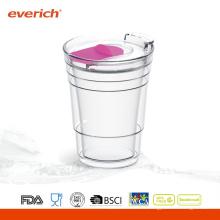 Рекламные дешевые стеклянные чашки с крышкой