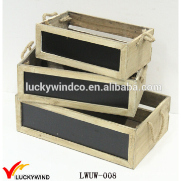 Vintage Wholesale Wooden Handmade Box with Chalkboard
