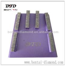 Outil abrasif diamant Bloc cale pour revêtement de sol