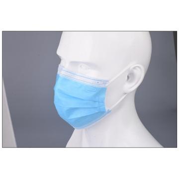 Máscara protectora cirúrgica da tela não tecida de 3 dobras