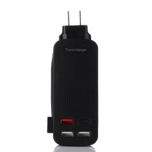 Chargeur rapide USB portable QC3.0 + Type-C de voyage de haute qualité
