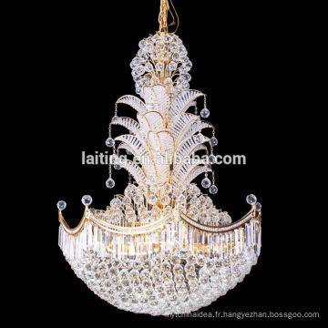 grand lustre en cristal d'usine professionnelle d'éclairage laiting