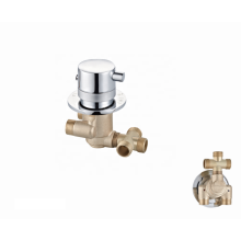 Factory brass body Single handle shower sanitary ware wall mount thermostatic faucet