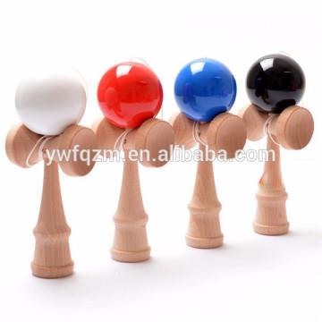 juguetes de madera kendama tradicionales japoneses de madera de la venta al por mayor de China