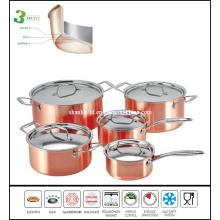 3ply Copper Composite Cookware Set