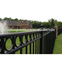 Meilleur prix Black Polyester Paint Ornamental Steel Fence