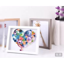 Good quality wood color 3d shadow box frame