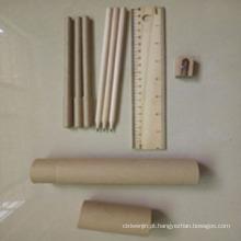 Papelaria reciclada para escola ou material de escritório