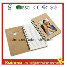Eco Paper Spiral Notebook with Photo Frame Cover
