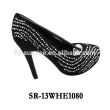SR-13WHE1080 latest high heel shoes for girls korean high heel shoes high heeled shoes rhinestone transfer
