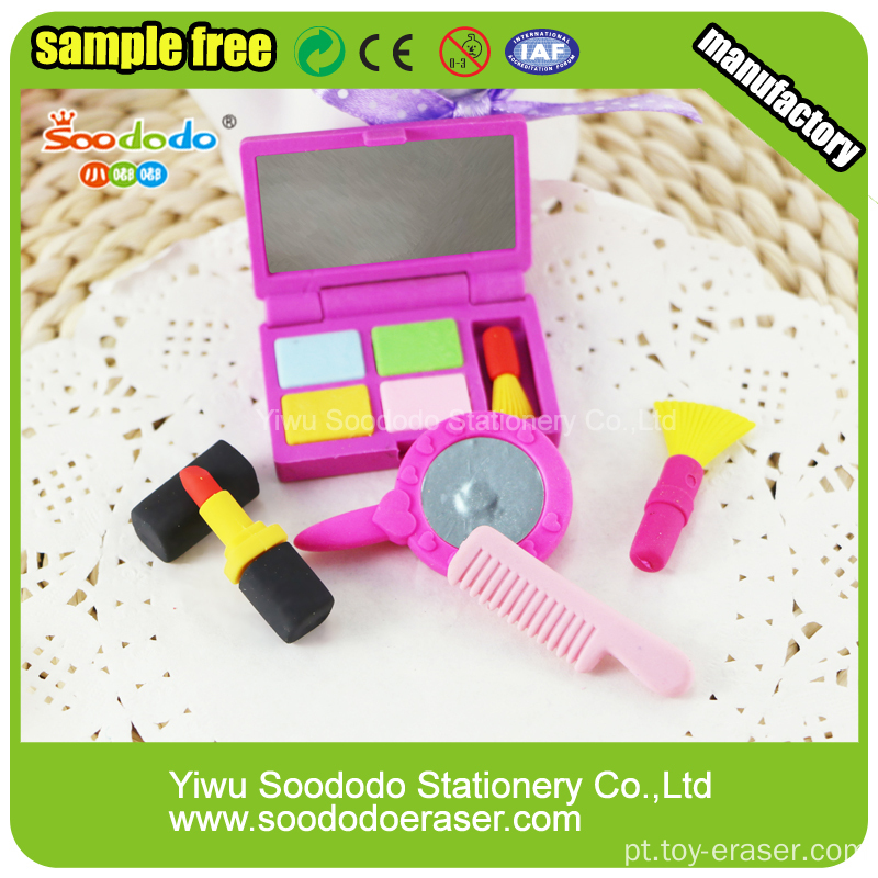 Girl Eraser Sets Make-up Box Novo Design Produtos Borracha
