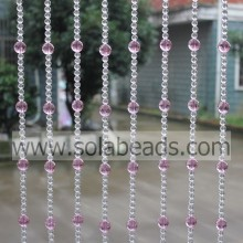 ODM for acrylic crystal bead curtain Wholesale 20MM&10MM Wire Acrylic Beaded Garland Trim export to Estonia Supplier