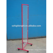 coloured wire mesh garment display rack double sided