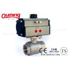 2PC Threaded Pneumatic Actuator Control Kugelhahn mit ISO 9001