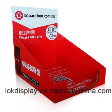 Unidade de exibição de mostradores de revistas, estojo de papel PDQ