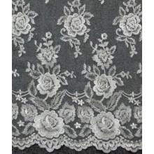Marfim De Casamento De Laço De Flores Bordadas De Lã De Têlo De Laço 52 '' No.CA214