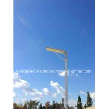 Eficacia alta Ce / RoHS aprobó la luz de calle solar del LED