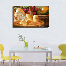 Decorative Food Canvas Painting With Stretched Frame