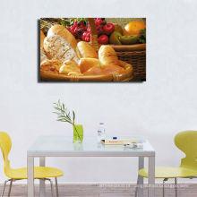 Pintura decorativa da lona do alimento com quadro esticado