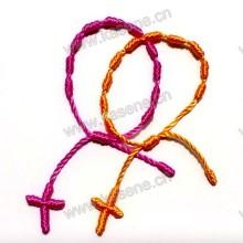Браслет из цветной веревки с цветочным узором из радуги / Браслет из узловатого браслета / Боковой крест-браслет