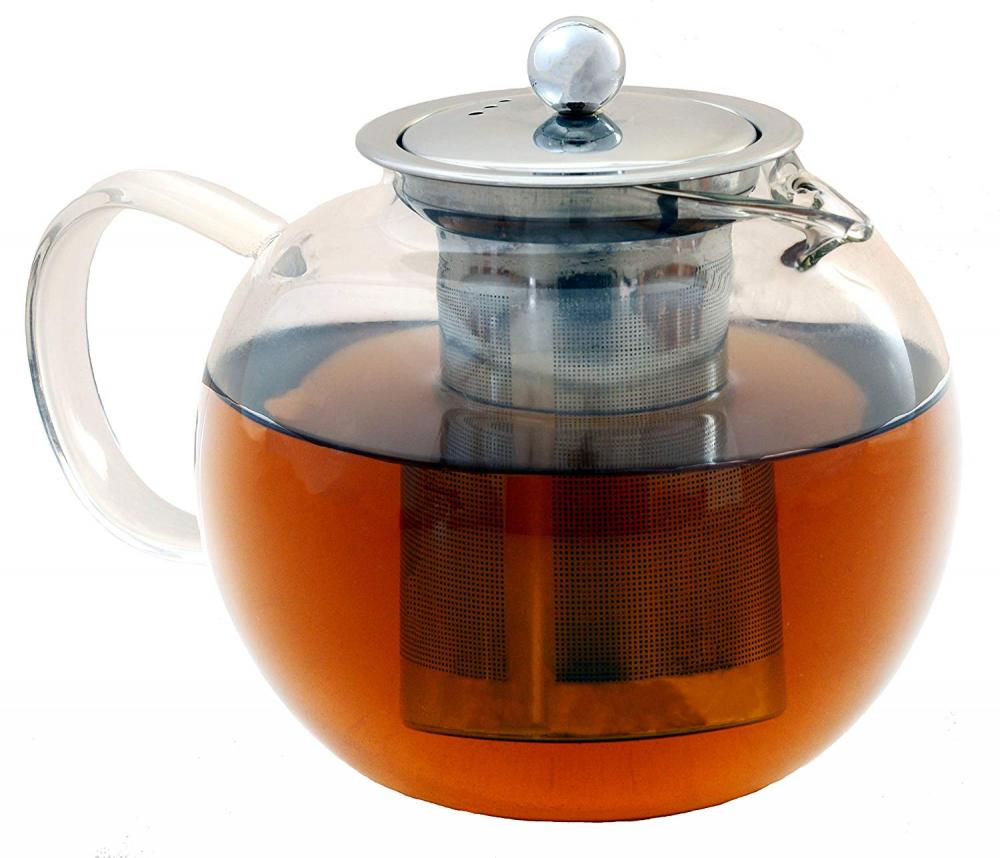 Glass Teapot with Removable Stainless Steel Infuser