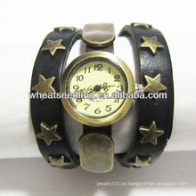 Reloj de la correa de cuero del reloj de manera de las señoras de las correas del Mens nuevo