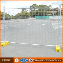Zaun im Freien temporärer Metallzaun für Baustelle