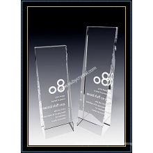 Premio de placa de torre de cristal transparente K9 de 8 pulgadas de altura (NU-CW761)