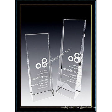 K9 Clear Crystal Tower Plaque Award 8 Inch Tall (NU-CW761)