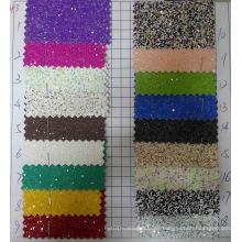 Multicolor Chunky Glitter Tapeten Stoff für Dekoration