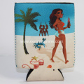 Summer beach can coolie 12 oz neoprene coolers