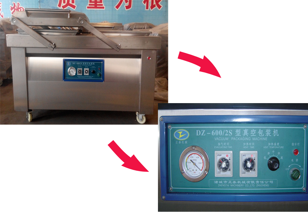 Double Chambered Semi-automatic Vacuum Packing Machine for Corn