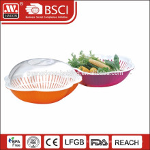 2014 New plastic kitchen colander with cover