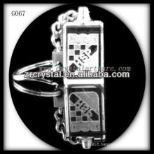 laser etched crystal keychain and blank crystal G067