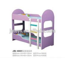 2016 children cheap beautiful wooden bunk kindergarten bed for sale