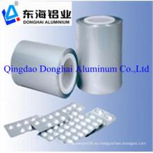 Embalaje farmacéutico hojas de aluminio