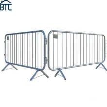 Hot Dipped Galvanized Fixed Leg 2.3m Crowd Control Pedestrian Barrier.