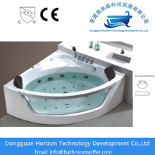 Manufactur standard for popular glass bathtub Soaking corner tub acrylic jacuzzi corner bath supply to Italy Manufacturer