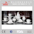 Nouvelle conception hign qualité microwavable fne os porcelaine céramique thé cafe set cadeau