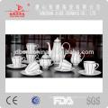 new design hign quality microwavable fne bone china porcelain ceramic tea coffee set gift