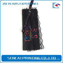 Sencai luxury Printed design black hang tags add plastic Grid film