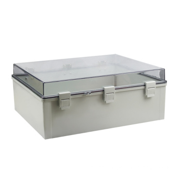 SAIPWELL 600*400*220mm IP66 Clear Cover 3 Buckles Electric PC Waterproof Box Plastic Waterproof Junction Box Air Switch Box