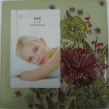 "Classical 4""X6"" Glass Photo Frame For Home Decoration"