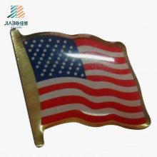 China Förderndes Geschenk, das kundenspezifische USA-Flaggen-Pin-Abzeichen im Metallhandwerk druckt