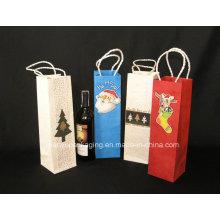 Embalagens de papel Kraft personalizadas do vinho tinto