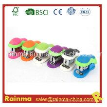 Mini Capacity Desktop Stapler with Colorful Cute Portable
