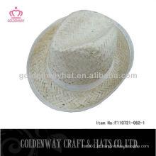 Chapéu de chapéu de fedora de palha de homens baratos atacado